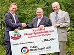 Scheckübergabe Kaufland Pfand-Spendenaktion an Aktion Deutschland Hilft