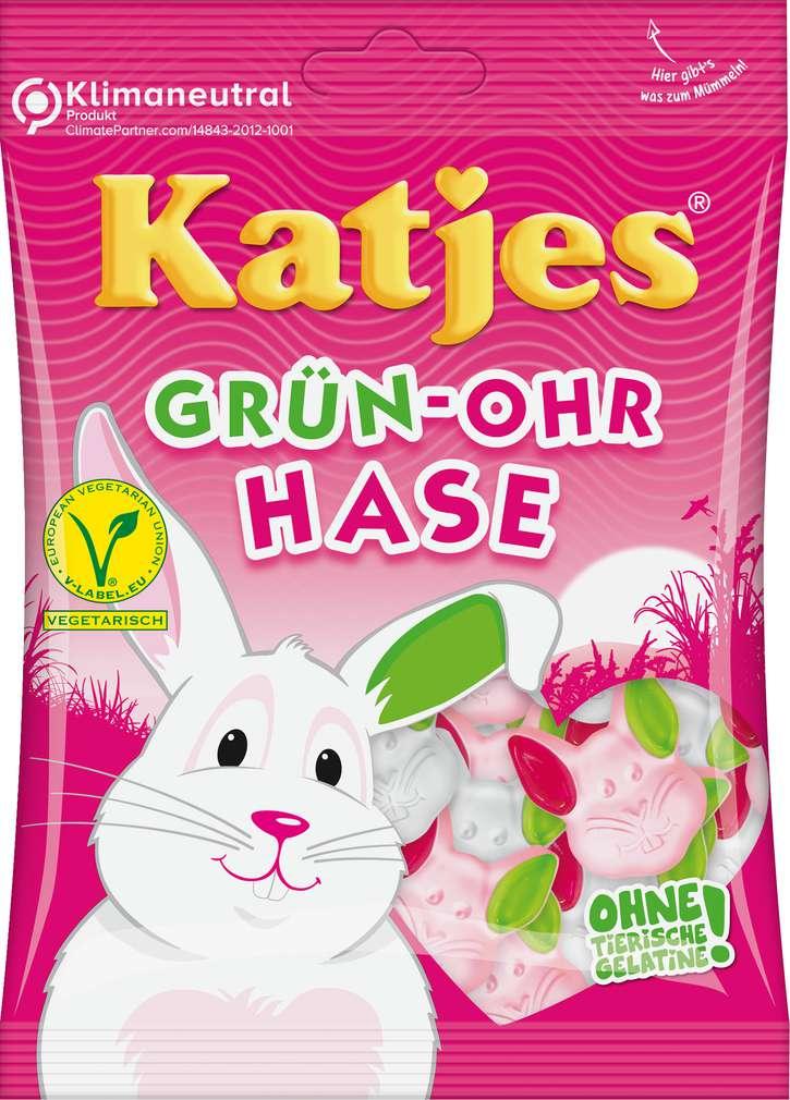 Abbildung des Sortimentsartikels Katjes Grün-Ohr Hase 200g