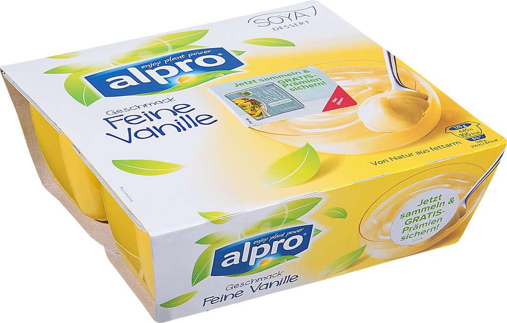 Abbildung des Sortimentsartikels Alpro Sojadessert mit Vanille 4x125g