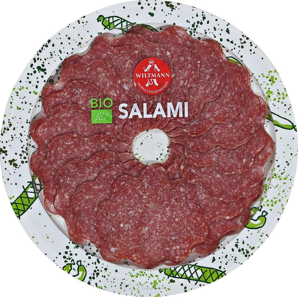 Abbildung des Sortimentsartikels Wiltmann Bio-Salami fein 80g