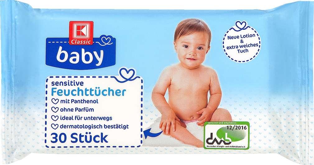 Abbildung des Sortimentsartikels K-Classic Baby Sensitive Feuchttücher 30 Stück