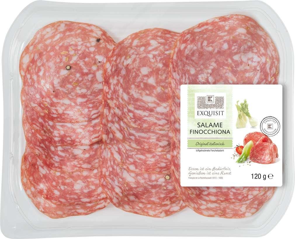 Abbildung des Sortimentsartikels Exquisit Salame Finocchiona 120g