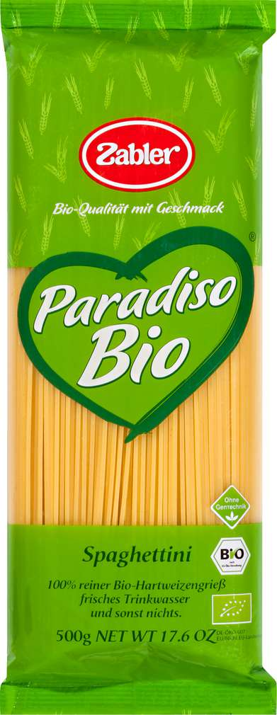 Abbildung des Sortimentsartikels Zabler Spaghettini 500g