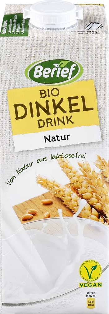 Abbildung des Sortimentsartikels Berief Bio-Dinkel-Drink-Natur 1 Liter