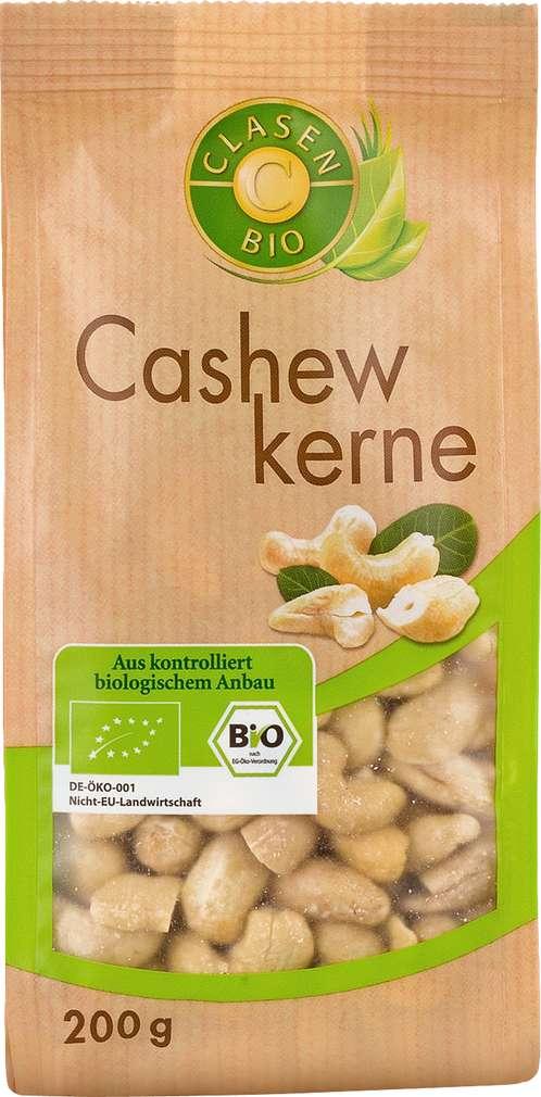 Abbildung des Sortimentsartikels Clasen Bio Cashewkerne 200g