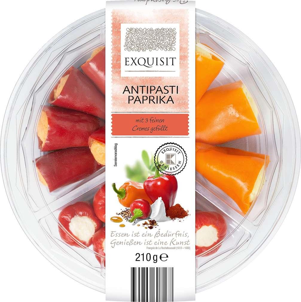 Abbildung des Sortimentsartikels Exquisit Antipasti Paprika 210g