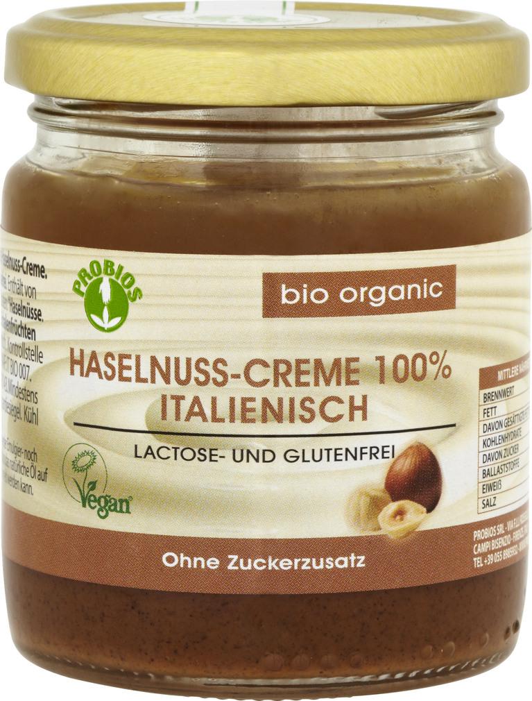 Abbildung des Sortimentsartikels Probios Haselnuss-Creme 100% Italienisch 200g