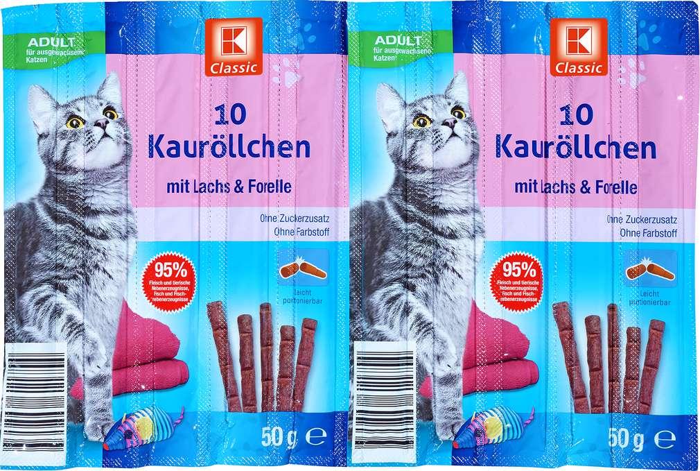 Abbildung des Sortimentsartikels K-Classic 10 Kauröllchen mit Lachs & Forelle 10x5g