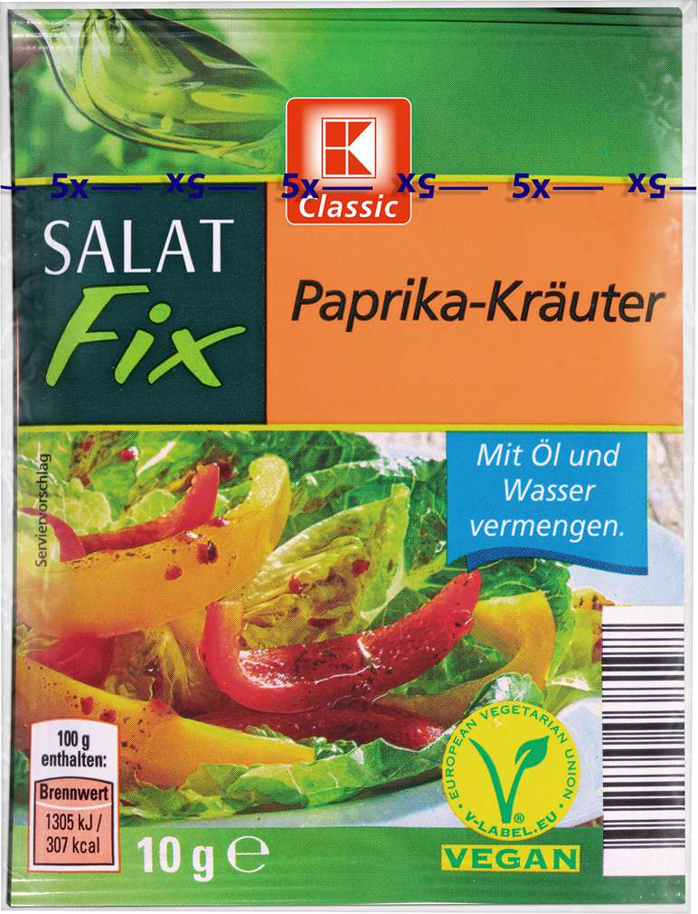 Abbildung des Sortimentsartikels K-Classic Salat Fix Paprika-Kräuter 5x10g