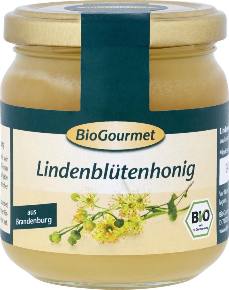 Abbildung des Sortimentsartikels BioGourmet Lindenblütenhonig 250g