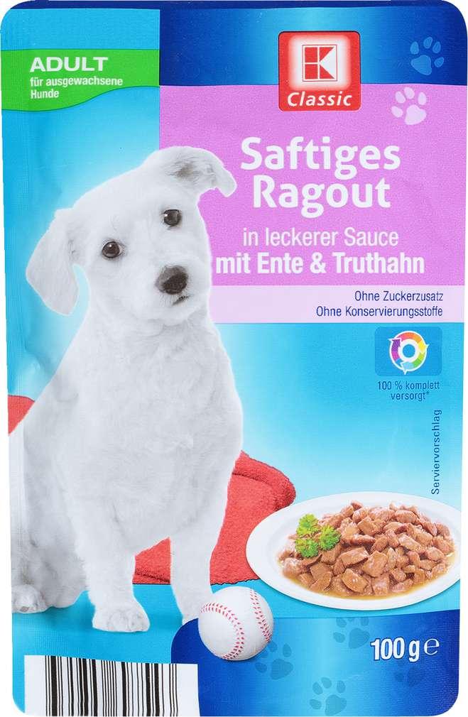 Abbildung des Sortimentsartikels K-Classic Hundenahrung Ragout Ente & Truthahn 100g