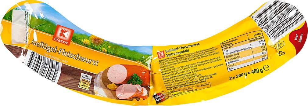Abbildung des Sortimentsartikels K-Classic Geflügel-Fleischwurst 2 x 200 g