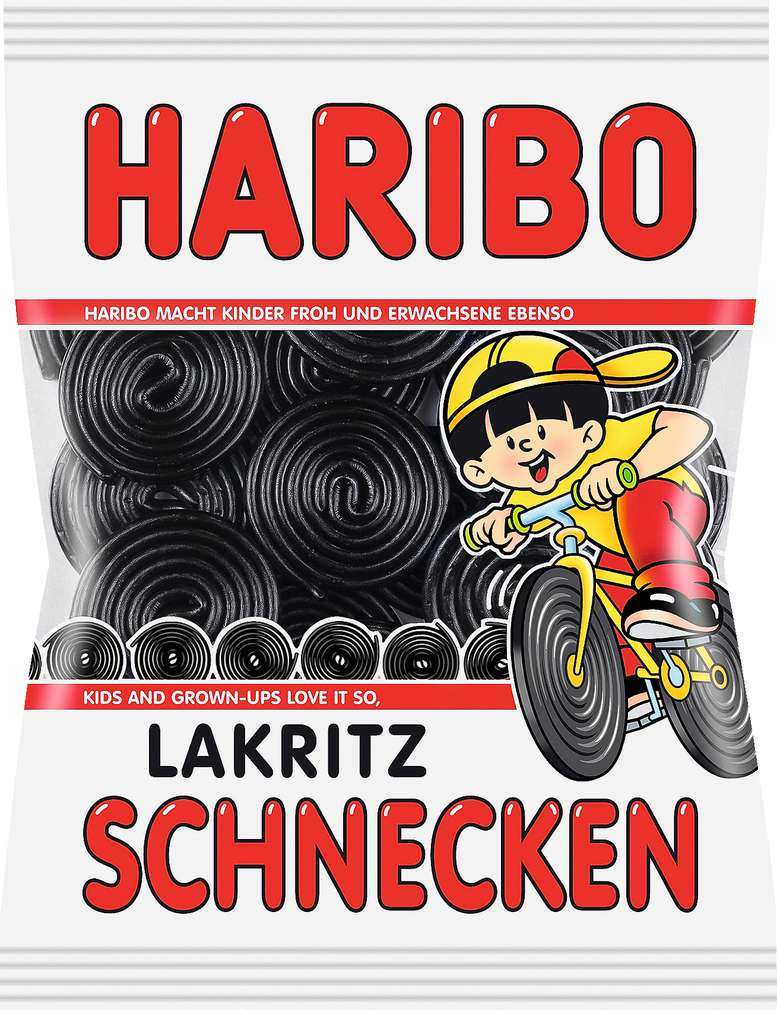 Abbildung des Sortimentsartikels Haribo Lakritz Schnecken 200g