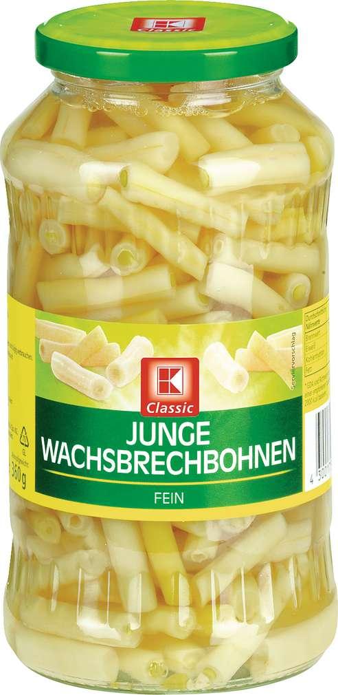 Abbildung des Sortimentsartikels K-Classic Junge Wachsbrechbohnen 720ml