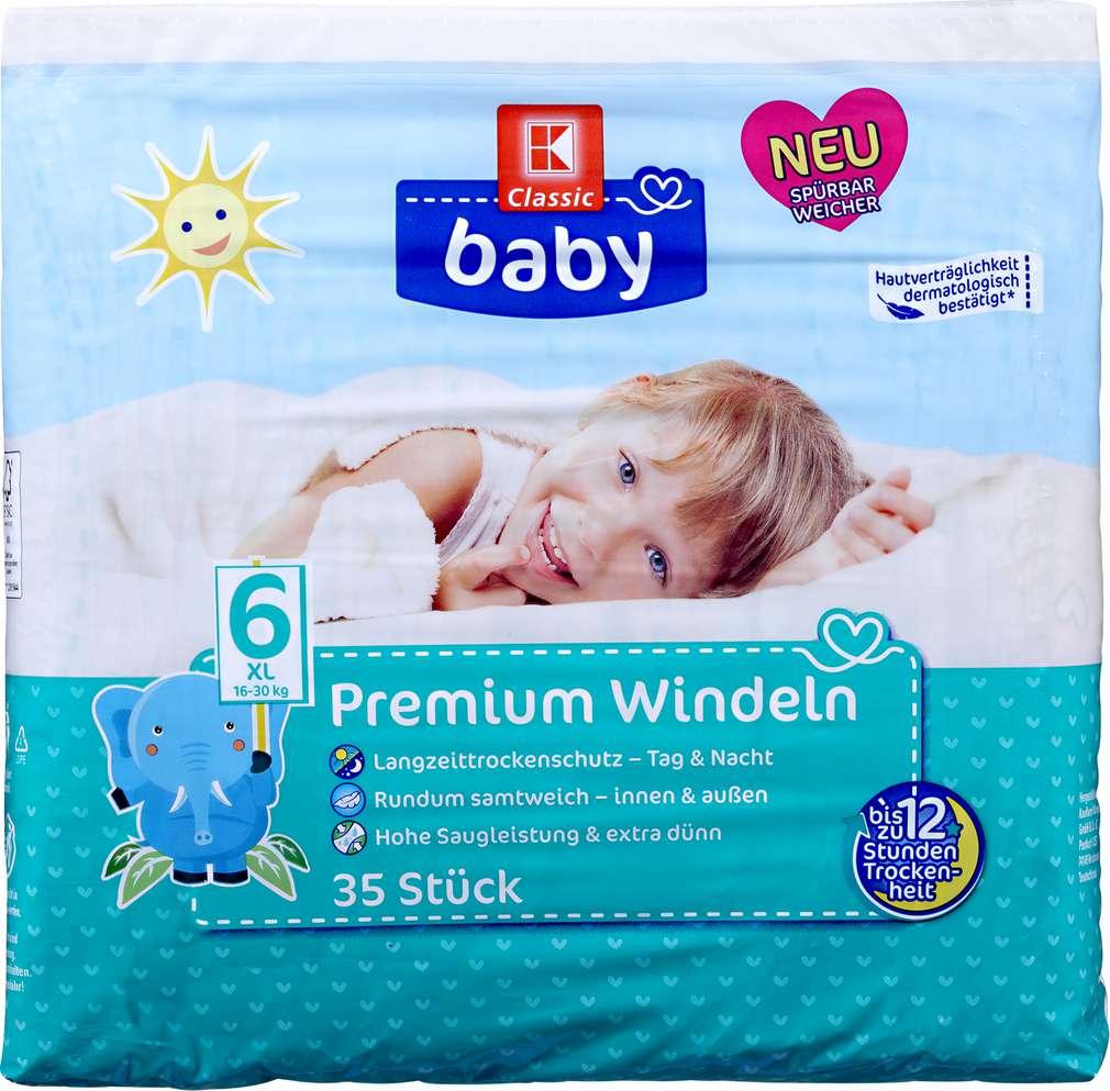 Abbildung des Sortimentsartikels K-Classic Baby Baby Premium Windeln XL 35 Stück