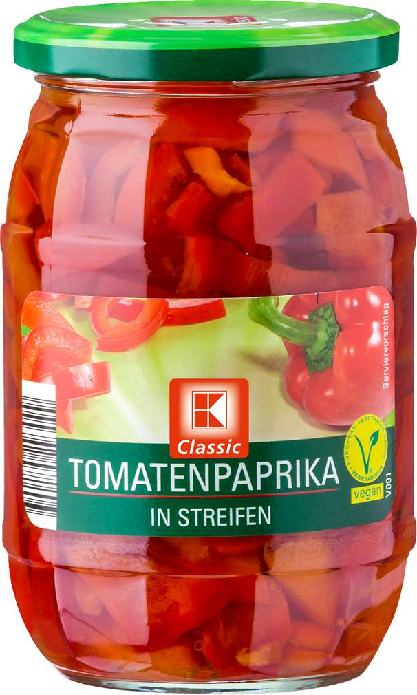 Abbildung des Sortimentsartikels K-Classic Tomatenpaprika in Streifen 370ml