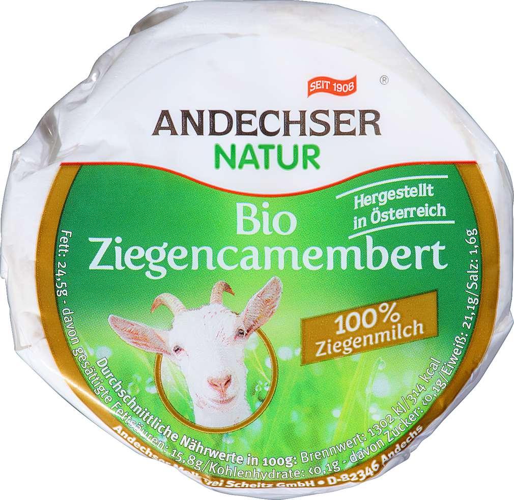 Abbildung des Sortimentsartikels Andechser Natur Bio Ziegencamenbert 100g