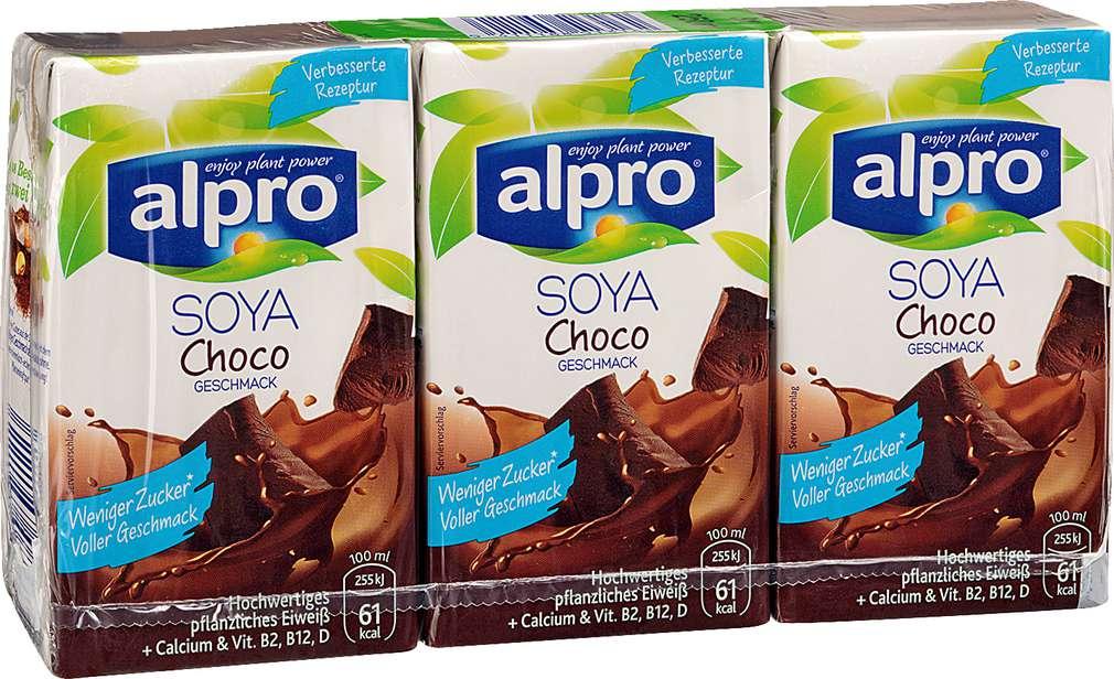 Abbildung des Sortimentsartikels Alpro Soja-Drink Choco 3x250ml