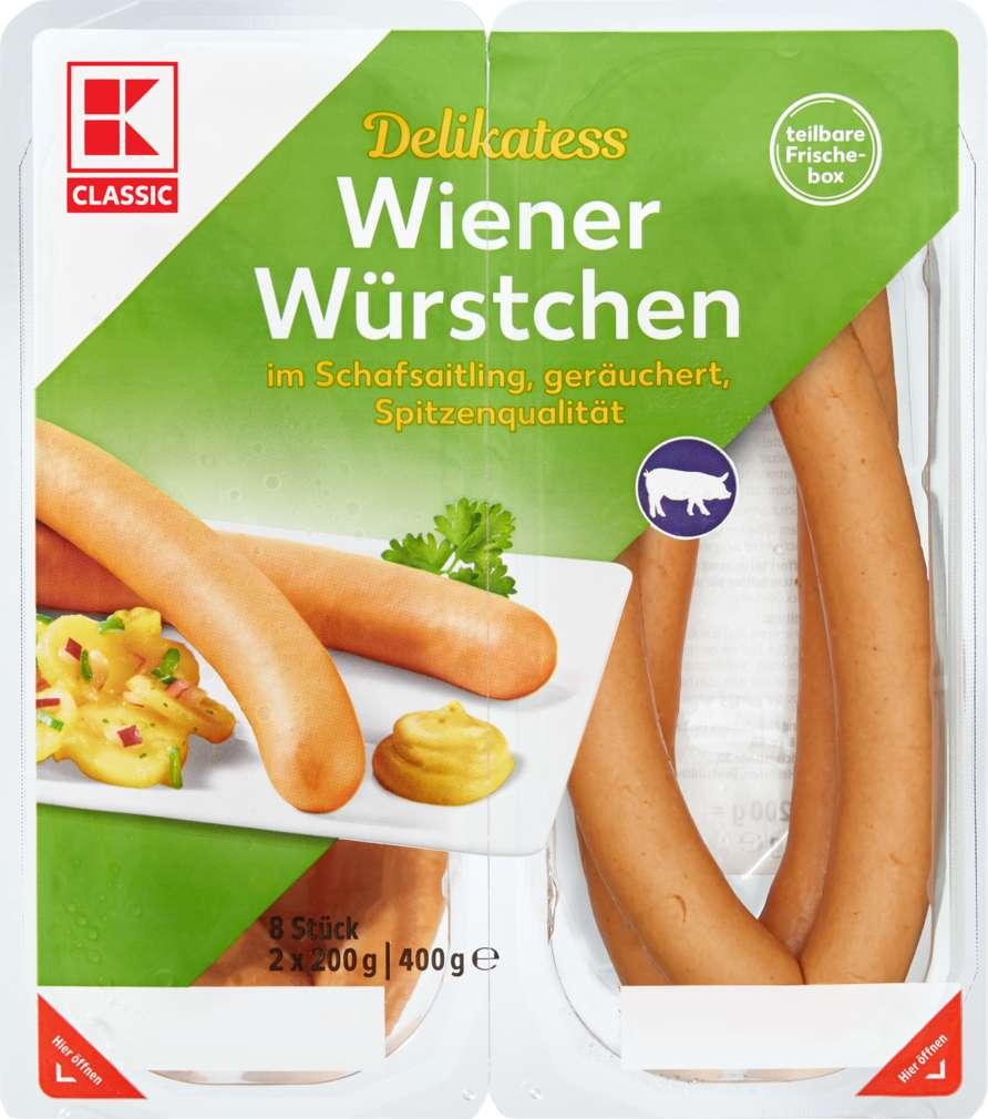 Abbildung des Sortimentsartikels K-Classic Delikatess Wiener 2x200g