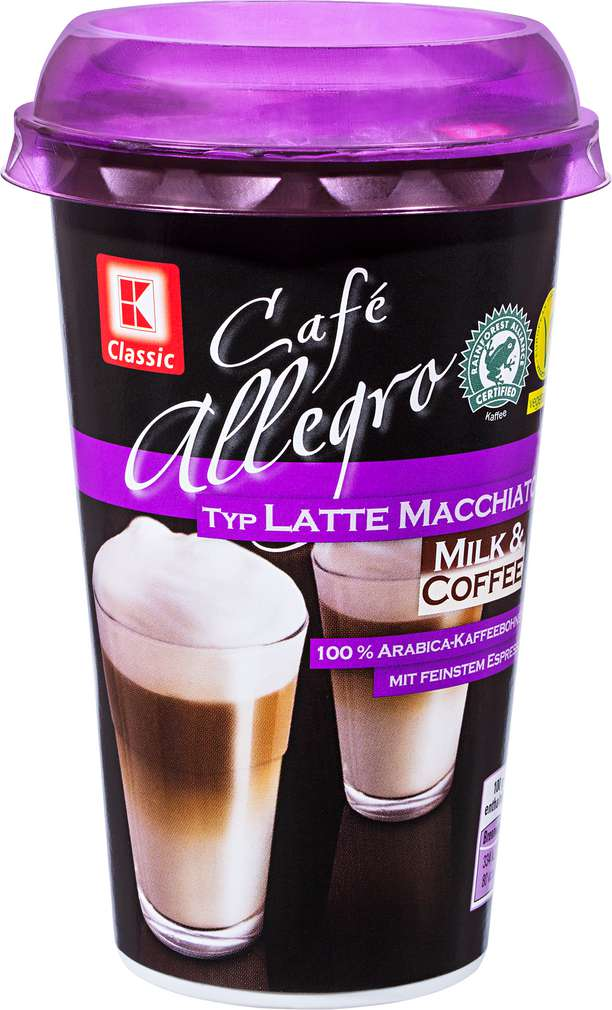 Abbildung des Sortimentsartikels K-Classic Café Allegro Latte Macchiato 250ml