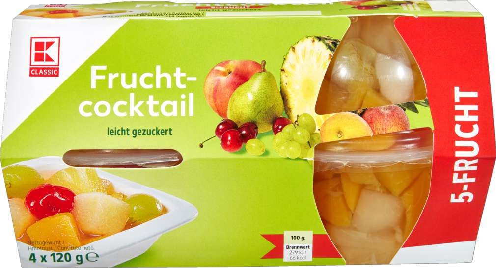 Abbildung des Sortimentsartikels K-Classic Fruchtcocktail Klassik 4x120g