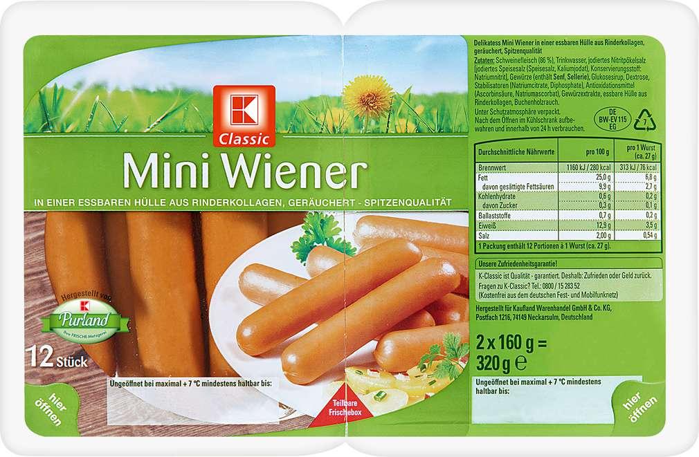 Abbildung des Sortimentsartikels K-Classic Mini-Wiener 2x160g