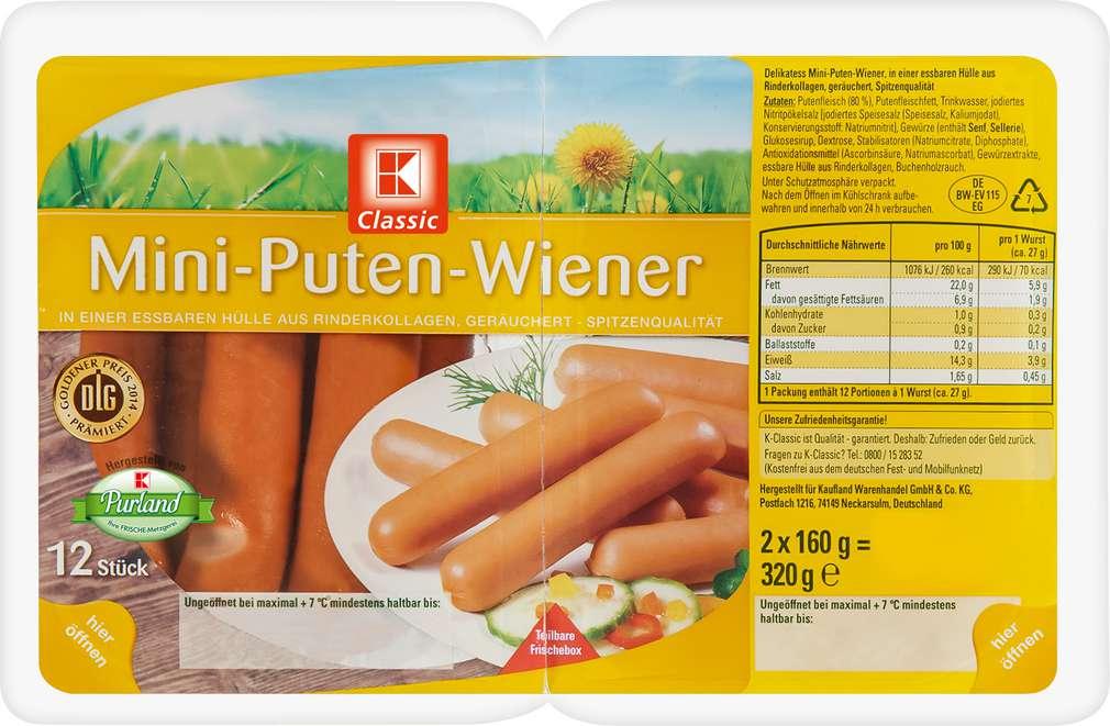 Abbildung des Sortimentsartikels K-Classic Mini-Geflügel-Wiener