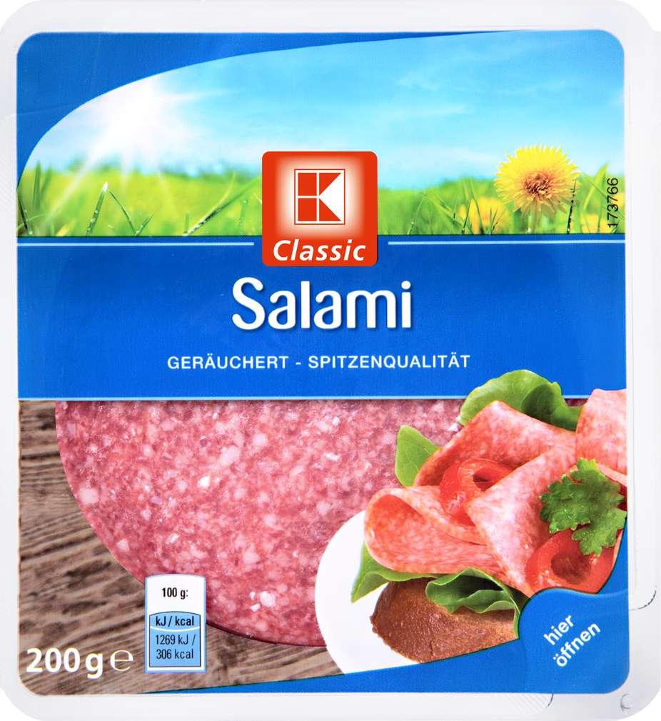 Abbildung des Sortimentsartikels K-Classic Salami geräuchert 200g