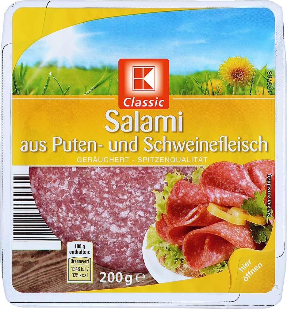 Abbildung des Sortimentsartikels K-Classic Salami 200g