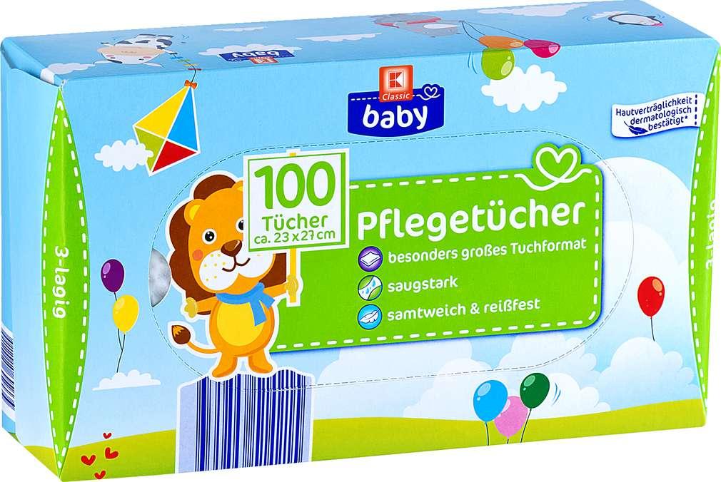 Abbildung des Sortimentsartikels K-Classic Baby Pflegetücher 100 Stück