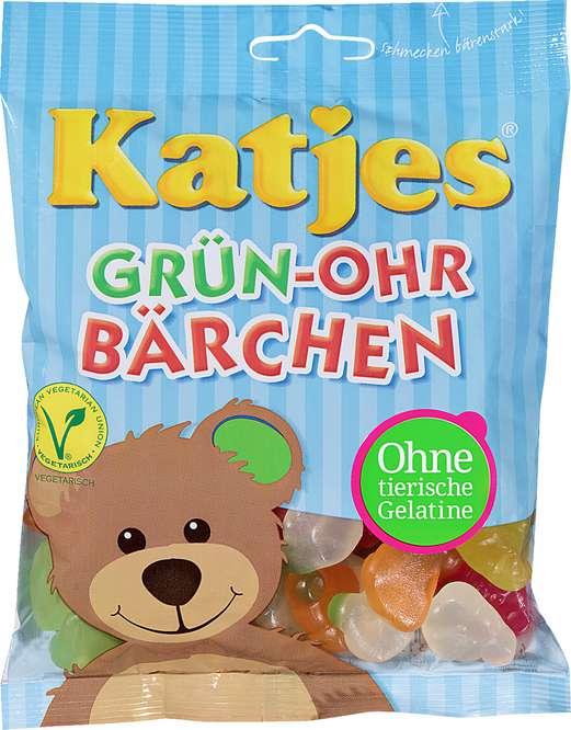Abbildung des Sortimentsartikels Katjes Grün-Ohr Bärchen 200g