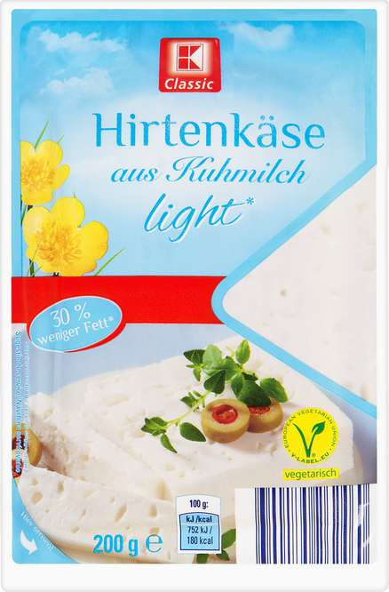 Abbildung des Sortimentsartikels K-Classic Hirtenkäse light 200g