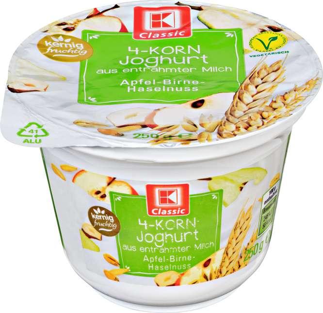 Abbildung des Sortimentsartikels K-Classic 4-Korn Joghurt Apfel-Birne-Haselnuss 250g
