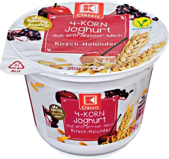 Abbildung des Sortimentsartikels K-Classic 4-Korn Joghurt Kirsch-Holunder 250g