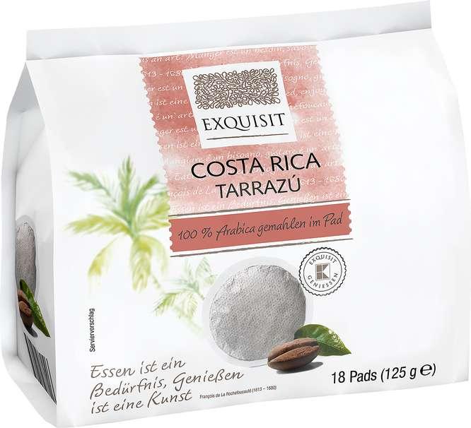 Abbildung des Sortimentsartikels Exquisit Pads Costa Rica Tarrazú 125g, 18 Stück