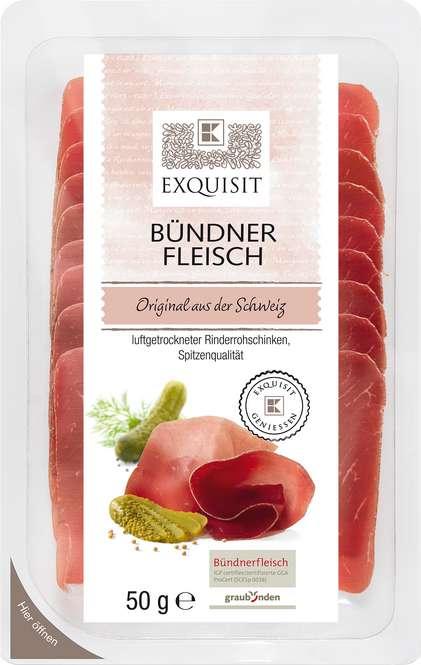Abbildung des Sortimentsartikels Exquisit Bündner Fleisch 50g