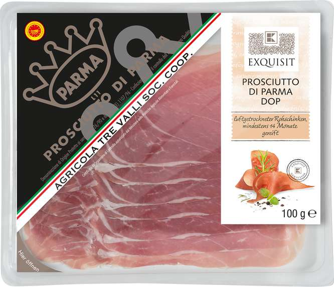 Abbildung des Sortimentsartikels Exquisit Prosciutto di Parma DOP 100g