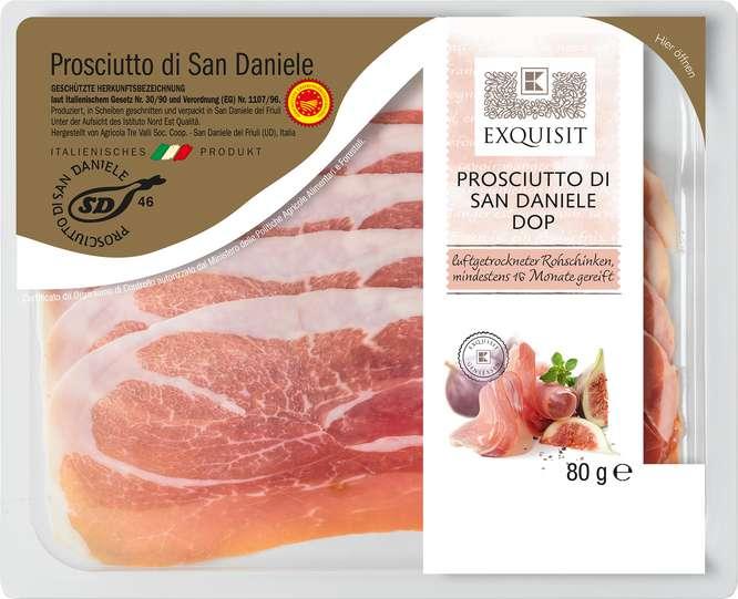 Abbildung des Sortimentsartikels Exquisit Prosciutto di San Daniele DOP 80g