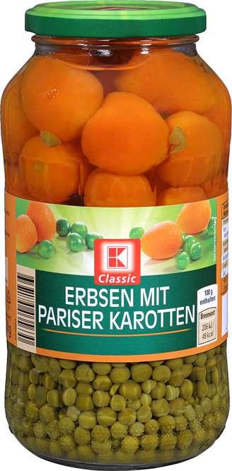 Abbildung des Sortimentsartikels K-Classic Erbsen mit pariser Karotten 660g