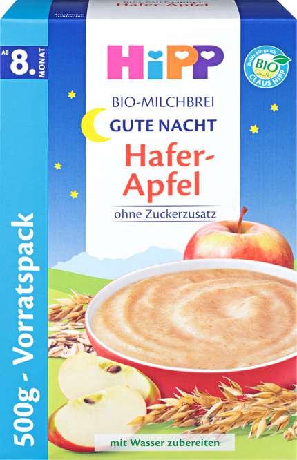 Abbildung des Sortimentsartikels Hipp Bio-Milchbrei Hafer-Apfel 500g