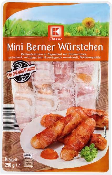 Abbildung des Sortimentsartikels K-Classic Mini Berner Würstchen 250g, 8 Stück