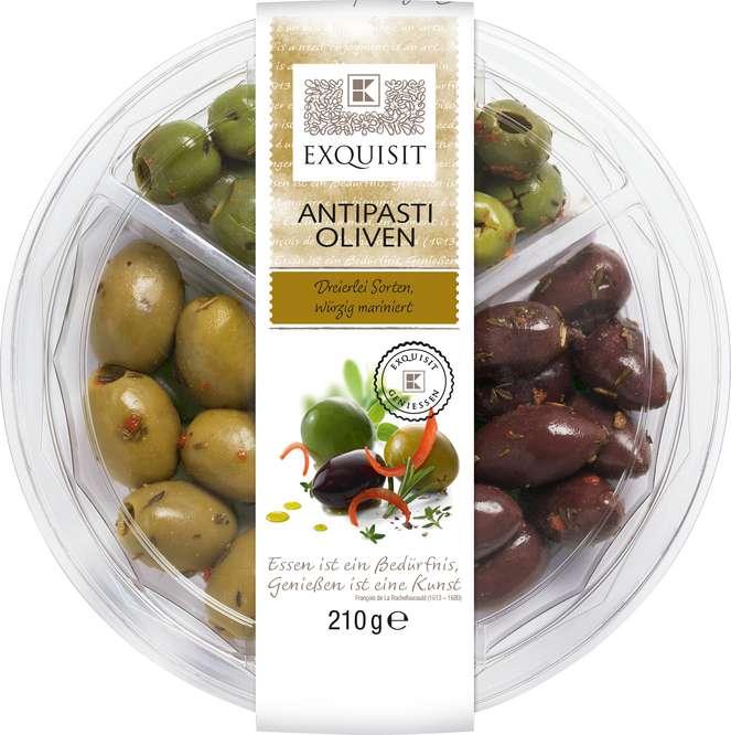Abbildung des Sortimentsartikels Exquisit Antipasti Oliven 210g