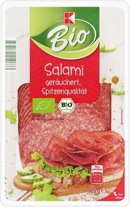 Abbildung des Sortimentsartikels B Salami geräuchert 125g