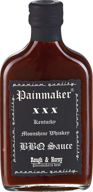 Abbildung des Sortimentsartikels Painmaker XXX Kentucky Moonshine Whiskey BBQ Sauce 200ml