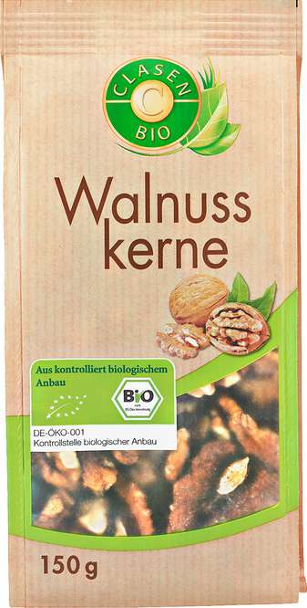 Abbildung des Sortimentsartikels Clasen Bio Walnusskerne 150g