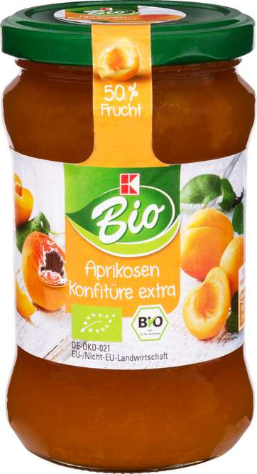 Abbildung des Sortimentsartikels K-Bio Aprikosen Konfitüre Extra 340g