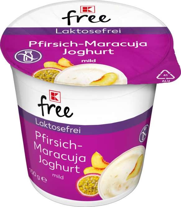 Abbildung des Sortimentsartikels K-Classic Laktosefrei Pfirsich Maracuja Joghurt mild 150g