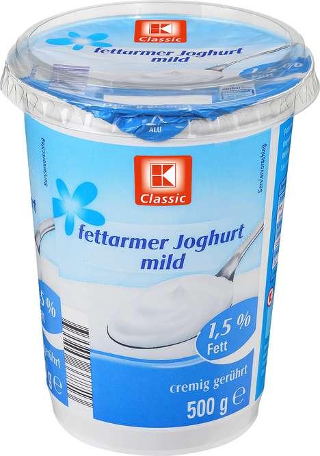 Abbildung des Sortimentsartikels K-Classic Fettarmer Joghurt mild 1,5 % Fett 500g