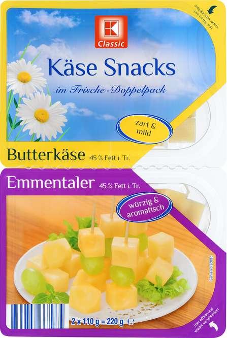Abbildung des Sortimentsartikels K-Classic Käsewürfel Emmentaler und Butterkäse 220g