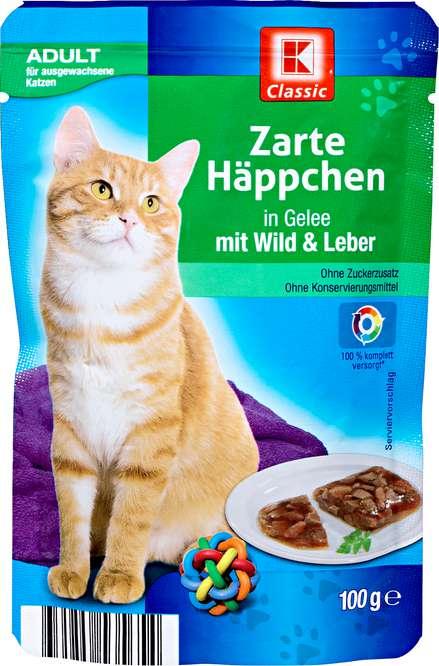Abbildung des Sortimentsartikels K-Classic Zarte Häppchen in Gelee mit Wild & Leber 100g